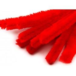 Zsenília drót 1,5 cm piros
