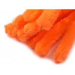 Zsenília drót 1,5 cm narancssárga