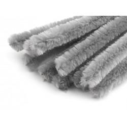 Zsenília drót 1,5 cm szürke