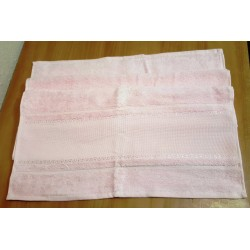 Hímezhető törölköző 50x100 cm rózsaszín
