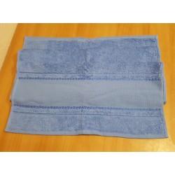 Hímezhető törölköző 50x100 cm kék