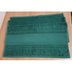 Hímezhető törölköző 50x100 cm sötétzöld