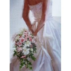 Gobelin 22x30 cm 6064 Menyasszonyi csokor