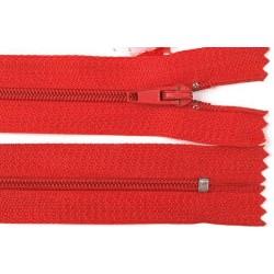 Cipzár 30 cm műanyag piros