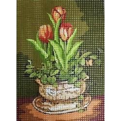 Gobelin 10x15 cm V070/2 Tulipánok
