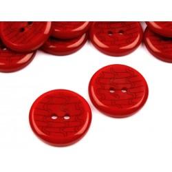 Gomb 2,5 cm piros