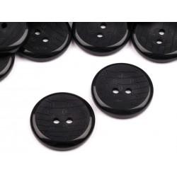 Gomb 2,5 cm fekete