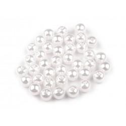 Műanyag tekla gyöngy 0,6 cm fehér 20 g