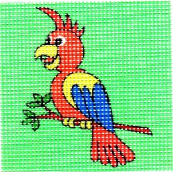 Gobelin 10x10 cm 101002 Papagáj