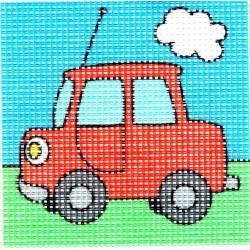 Gobelin 10x10 cm 101011 Autó