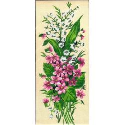 Gobelin 12x30 cm 2250 T Gyöngyvirágok