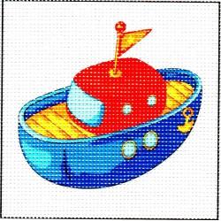 Gobelin 13x13 cm 1015 Hajó