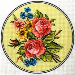 Gobelin 16x16 cm O 152 Rózsák