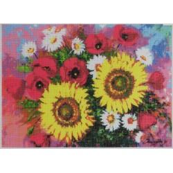 Gobelin 18x25 cm Sz:257 Tavaszi csokor