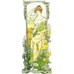 Gobelin 25x10 cm Sz:708 A mező virágai