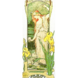 Gobelin 25x10 cm Sz:710 A vizek virágai