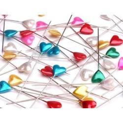 Dekor gombostű szívalakú 5,5 cm színes