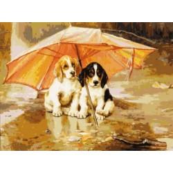 Gobelin 30x40 cm Sz:395 Elálljon az eső
