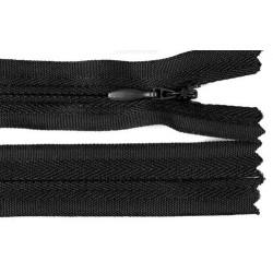 Cipzár 30 cm rejtett fekete