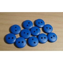Gomb fa 1,2 cm kék