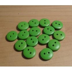 Gomb fa 1,2 cm zöld