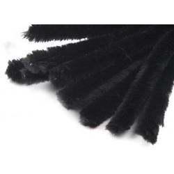 Zsenilia drót 1,5 cm fekete