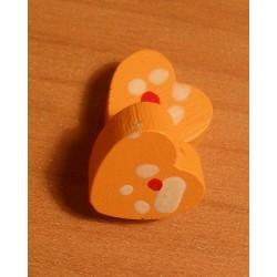 Fagyöngy 1,3 cm szív narancssárga