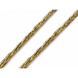 Zsinór 0,3 cm horgolt aranyszínű