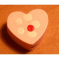 Fagyöngy 1,3 cm szív rózsaszín
