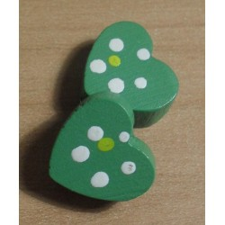 Fagyöngy 1,3 cm szív zöld