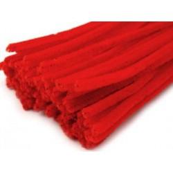 Zsenília drót 0,6 cm piros