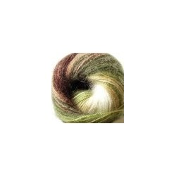 Angora Gold Batik törtfehér/zöld/barna 100 g