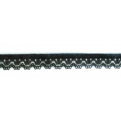 Műszálas csipke 1 cm fekete
