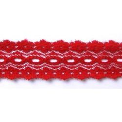 Műszálas csipke 2,7 cm piros