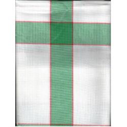Terítő betétes 85x85 cm zöld kockás