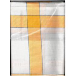 Terítő betétes 85x85 cm sárga kockás