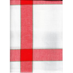 Terítő betétes 85x85 cm piros kockás