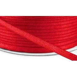 Szatén szalag 0,3 cm piros