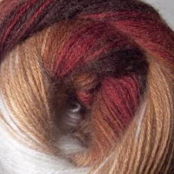 Angora Gold Batik drapp/barna/rozsda 100 g