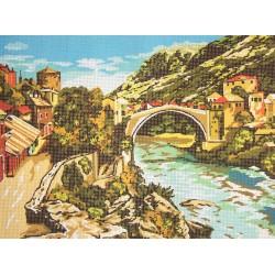 Gobelin 30x40 cm 240 Mosztári híd