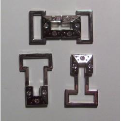 Díszcsat 4,5x2,3 cm strasszos