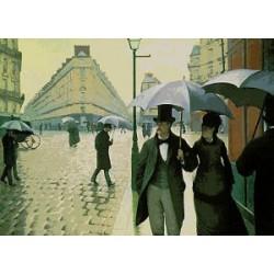Gobelin 30x40 cm Sz:595 Egy esős nap Párizsban
