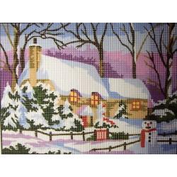 Gobelin 24x18 cm 107 152 Maison sous la neige