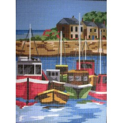 Gobelin 24x18 cm 107 151 Port tranquille