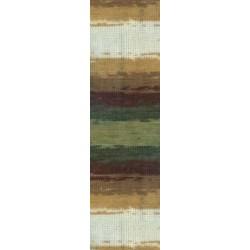 Lanagold Batik  drapp/barna/zöld 100 g