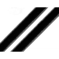 Bársony szalag 1 cm fekete