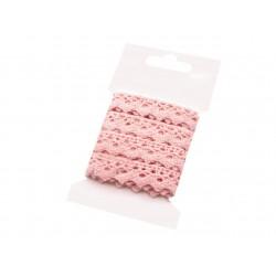 Pamut vert csipke 1,5 cm rózsaszín 3 m/csomag