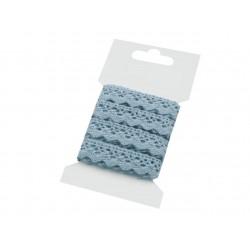 Pamut vert csipke 1,5 cm kék 3 m/csomag