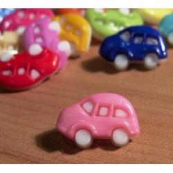 Babagomb 1,6x1 cm rózsaszín autó