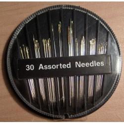 Aranyvégű tűkészlet 30 db-os